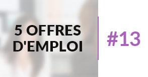 5 offres d'emploi à pourvoir #13
