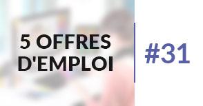 5 offres d'emploi à pourvoir #31