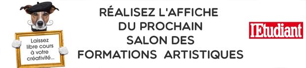 Concours imaginez l 39 affiche de la 17e dition du salon for Salon formation artistique