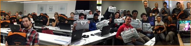 remise des kits de bienvenue aux candidats et étudiants NextFormation ESMTI