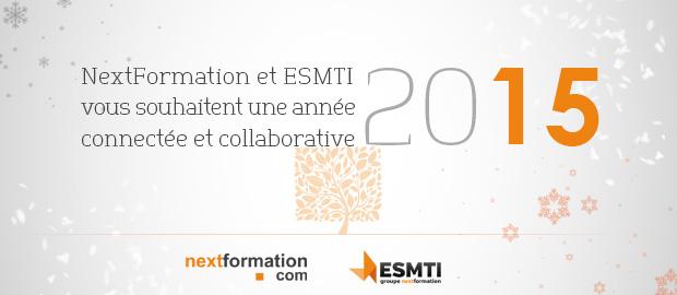 Joyeuses fêtes et bonne année 2015 de toute l'équipe NextFormation - ESMTI