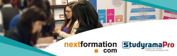 NextFormation présente à la 13é édition du salon StudyramaPro de la Formation des Cadres et Salariés