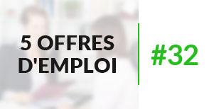 5 offres d'emploi à pourvoir #32 - Décembre 2016