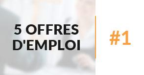 5 offres d'emploi à pourvoir #1 - Janvier 2017