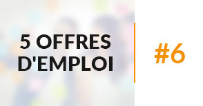 5 offres d'emploi à pourvoir #6 - Février 2017