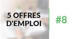 5 offres d'emploi à pourvoir #8 - Février 2017