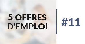 5 offres d'emploi à pourvoir #11 - Mars 2017