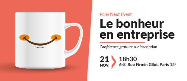 Conférence novembre 2017: Le bonheur en entreprise