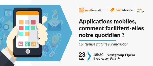 Conférence: Applications mobiles, comment facilitent-elles notre quotidien ?