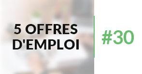 5 offres d'emploi à pourvoir #30