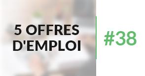 5 offres d'emploi à pourvoir #38 - Septembre 2017