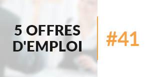 5 offres d'emploi à pourvoir #41 - Octobre 2017