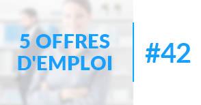 5 offres d'emploi à pourvoir #42 - Octobre 2017