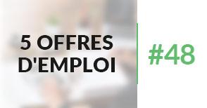 5 offres d'emploi à pourvoir #48 - Novembre 2017