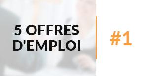 5 offres d'emploi à pourvoir #1 - Nextformation