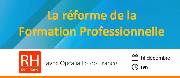 événement NextFormation : la réforme de la formation professionnelle - Séminaire RH