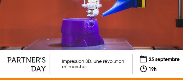 événement NextFormation : l'impression 3D, une révolution en marche - Partner's Day