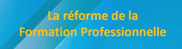 Résumé de l'événement : La réforme de la formation professionnelle