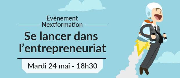 Se lancer dans l'entrepreunariat - évènement NextFormation