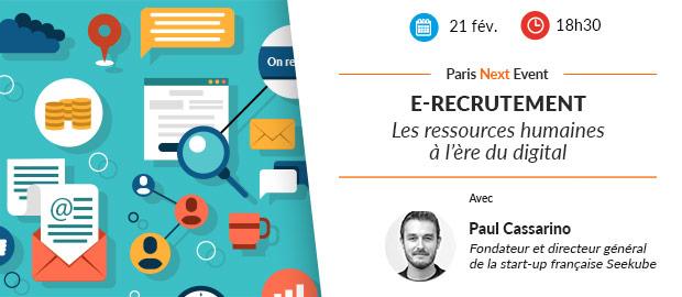 Paris Next Event - e-recrutement et ressources humaines
