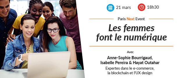 Paris Next Event - les femmes font le numérique