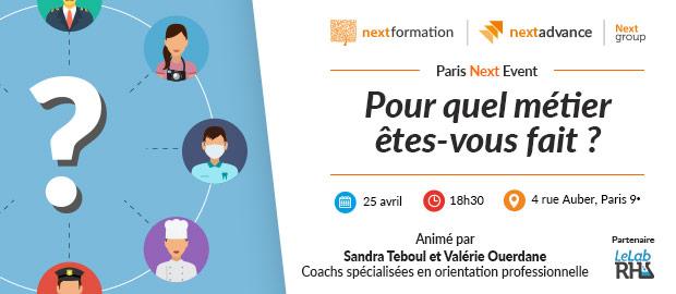 Paris Next Event: Pour quel métier êtes-vous fait?