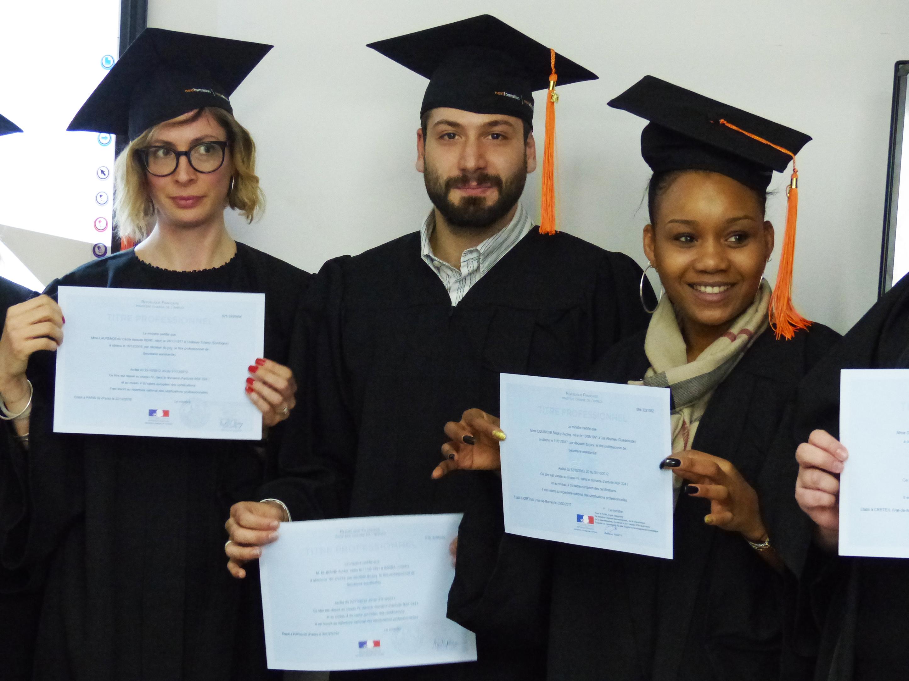 Remise de diplômes - Secrétaire Assistant(e) chez Nextformation